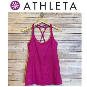 D5 🦄ATHLETA Fuchsia Textured Tank